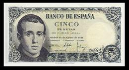 # # # Banknote Spanien (Spain) 5 Pesetas 1951 UNC # # # - [ 3] 1936-1975 : Regime Di Franco