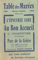 Au Bon Accueil à La Tranche/mer , Table Des Marées     ///   Mai . 20 ///  Ref.  11421 - Calendarios