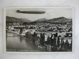AVIATION - GENEVE - Vue Générale Et Le Zeppelin - Dirigibili
