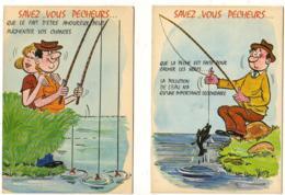 ILLUSTRATEUR ALEXANDRE Savez Vous Pêcheurs  Série 807 ........ Lot De 2 CP - Alexandre