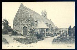 Cpa Du 22  Saint Alban église --- Près Pléneuf  AVR20-141 - Pléneuf-Val-André