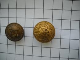 1239  Boutons Anciens  D'uniforme, Tenue, Collège STANISLAS, ET  Société De GYMNASTIQUE - Boutons