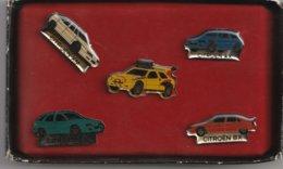LOT 5 PIN'S CITROEN . XM . AX . ZX . BX . + DAKAR ? - Badges