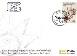 2020 FDC, Flora, Geastrum Berkeleyi, Montenegro, MNH - Montenegro