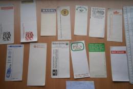 BEER BIER YUGOSLAVIA AD ADVERTISE Notepad Paper Lot PILS BIP APATIN DALMACIJA WINE WEIN NAVIP BADEL SPARKLING WATER - Alcools