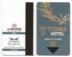 Titania Hotel, Athens, Greece, Used Magnetic Hotel Room Key Card # Titania-1 - Hotelkarten