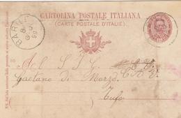 Barile. 1899. Annullo Grande Cerchio BARILE,  Su Cartolina Postale - 1878-00 Humbert I