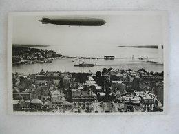 AVIATION - GENEVE - La Rade Et Le Zeppelin - Dirigibili