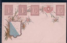 Die Ersten Briefmarken Der Schweiz, Armoirie Canton De Zürich, Litho (276) - Timbres (représentations)