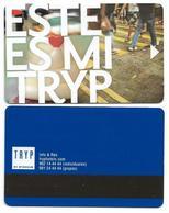 Tryp Hotels, Spain, Used, Magnetic Hotel Room Key Card, # Tryp-33 - Hotelkarten