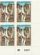 Maroc. Coin Numéroté De 4 Timbres De 1983. Yvert Et Tellier N° 955. Cascades D'Ouzoud. - Morocco (1956-...)