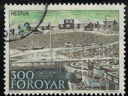 Iles Féroé 1987 Oblitéré Used Seaport Bateaux Village Et Port De Pêche SU - Islas Faeroes