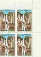 Maroc. Coin De 4 Timbres De 1983. Yvert Et Tellier N° 955. Cascades D'Ouzoud. - Morocco (1956-...)