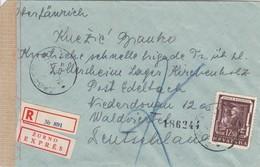 Croatia WWII NDH 1944 Censored Letter Zagreb - Gwermany , Mixed Franking - Croatia