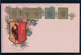 Les Premiers Timbres De La Suisse, Armoirie Canton De Genève, Litho (277) - Timbres (représentations)
