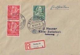 DR R-Brief Mif Minr.894, 2x 895 SST Berlin 7.8.44 - Deutschland