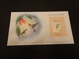 EP58 - Birds Of The World Stamp Collection -  Turks & Caicos 1973 - Ruby-throated Hummingbird - Colibris