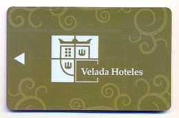 Velada Hoteles, Spain, Used Magnetic Hotel Room Key Card, # Velada-3 - Cartes D'hotel
