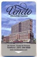 Hotel & Casino Veneto, Panamá, Used Magnetic Hotel Room Key Card  #  Veneto-1 - Casino Cards