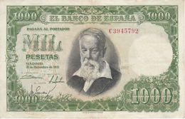 BILLETE DE ESPAÑA DE 1000 PTAS DEL 31/12/1951 SERIE C CALIDAD MBC (VF) (BANKNOTE) - [ 3] 1936-1975 : Régence De Franco