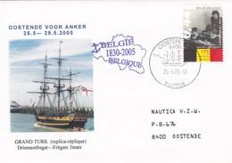 Enveloppe 3359 Oostende Voor Anker Bateau Frégate 3 Mats - Belgique