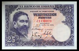# # # Banknote Spanien (Spain) 25 Pesetas 1954 AU # # # - [ 3] 1936-1975 : Regime Di Franco
