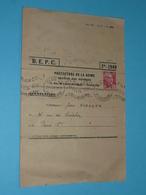 Rare Ancien BEPC Brevet D'Etudes Du Premier Cycle B.E.P.C., Avec Convocation Timbrée Préfecture De La Seine 1949 Paris - Diploma & School Reports