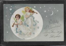 AK 0497  Fröhliche Weihnachten Mit Engerln Um 1902 - Anges
