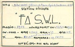 QSL FASWL - Michel LAGROT Eclaireurs De France Lycée Ben Aknoun - ALGER ALGERIE 1951 + Timbre - Amateurfunk