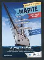 """Flyer Publicitaire 2012 """" La Manche Fête Le Marité - Port De Granville """" Normandie - Programma's"""