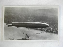 AVIATION - Le Zeppelin Survolant La Rade De Genève - Dirigibili