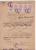 1921 KINGDOM OF SHS,SERBIA,VRSAC,10 REVENUE STAMPS,OFFICIAL TESTIMONY - Serbia