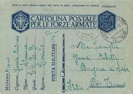 FRANCHIGIA WWII POSTA MILITARE 106 1942 CORINTO GRECIA X BORGONE DI SUSA - 1900-44 Vittorio Emanuele III