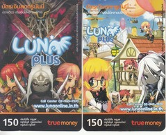 2 X Thailand Phonecard True  Anime Manga Movie Film Luna Plus - Kino