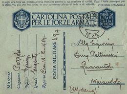FRANCHIGIA WWII POSTA MILITARE 49 1942 DURAZZO ALBANIA X MIRANDOLA - Posta Militare (PM)