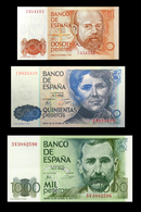 # # # Set 3 Banknoten Spanien (Spain) 200 + 500 + 1.000 Pesetas 1979 UNC # # # - [ 4] 1975-… : Juan Carlos I
