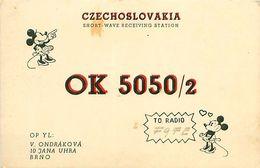 QSL OK5050/2 - V ONDRAKOVA Op BRNO CZECHOSLOVAKIA 1949 - Minnie Mouse - Radio-amateur