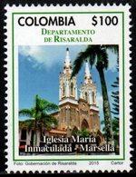 A551L-COLOMBIA- 2015 -MNH- RISARALDA DEPARTMENT- CHURCH IN MARSELLA - Colombia