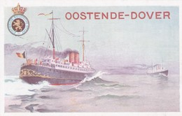 2 Scans Carte Entier Postal Paquebot Oostende Dover - Stamped Stationery