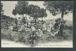 Var.  Bormes Les Mimosas ; Les Colonies Scolaires De Vacances En Excursion - Bormes-les-Mimosas