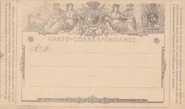 Enitier Postal Carte Correspondance Lion Couché - Entiers Postaux
