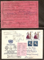 LITHUANIA 1992●Mi 510 Costumes On R-Cover To Germany - Lituania