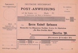 Mandat Postal Post - Anweisung - Germany
