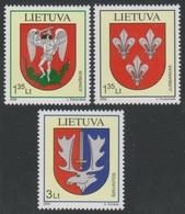 2008Lithuania992-994Ancient Coats Of Arms XVII - Lituania