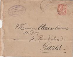 Enveloppe Commerciale 1901 / Léon MERLE / 47 Cahors / Lot / Timbre Mouchon 117 Anomalie Du 1 - Mapas