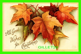 JOYEUX NOEL - MERRY CHRISTMAS - ALL GOOD WISHES FOR CHRISTMAS - TRAVEL - BELLE FEUILLES D'ÉRABLE - - Kerstmis
