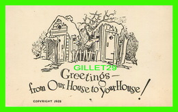 JOYEUX NOEL - MERRY CHRISTMAS - GREETINGS FROM OUR HOUSE TO YOUR HOUSE ! IN 1933 - - Kerstmis