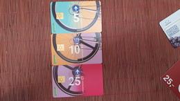 3 Phonecards Netherlands  Used - Openbaar