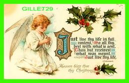 JOYEUX NOEL - MERRY CHRISTMAS - HEAVEN BLESS THEE THIS CHRISTMAS - ANGE - ANGEL - WRITTEN IN 1909 - - Kerstmis