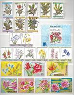 Lot Bloemen - 5 Reeksen + 4 Bl - Stamps